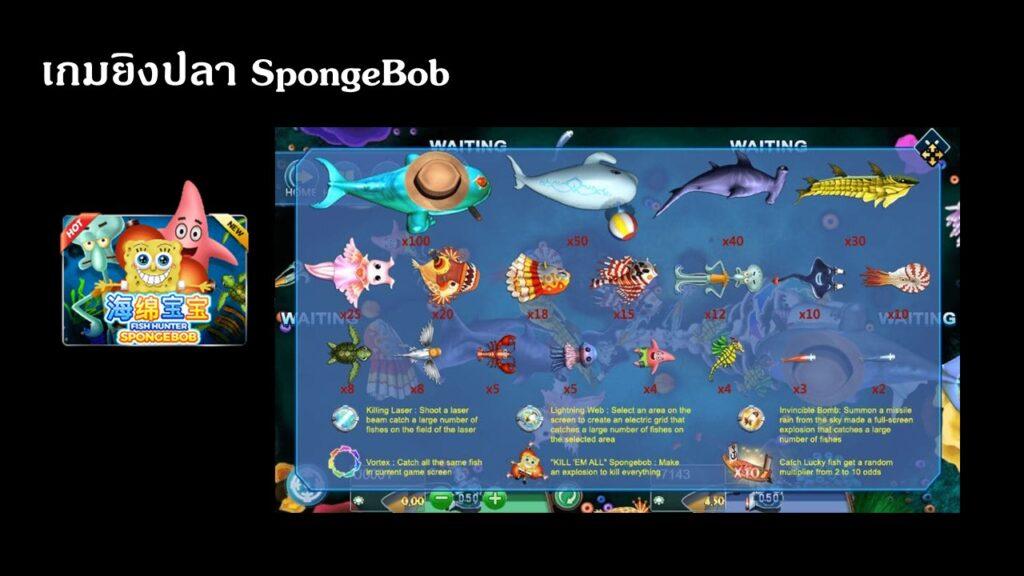 เกมยิงปลา SpongeBob